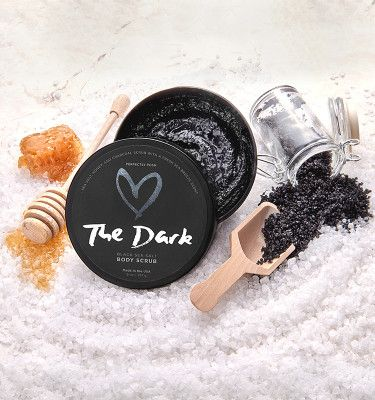 Holy handsome man fragrance in a black sea salt scrub!  I'm in love!  Gonna be my new leg shave scrub!