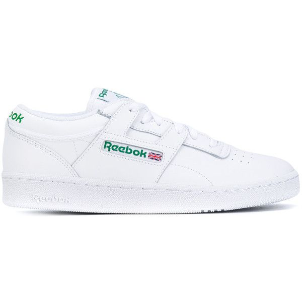 Reebok Club Workout trainers (£73) ❤ liked on Polyvore featuring shoes, sneakers, white, reebok shoes, reebok trainers, leather footwear, leather sneakers and leather trainers