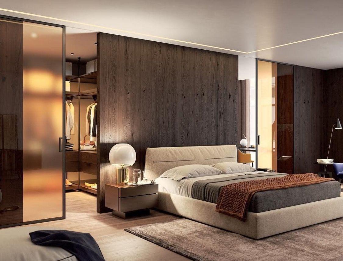 Cama Con Puerta Al Closet Por Ambos Lados En 2020 Maison Minimaliste Chambre A Coucher Avec Dressing Chambres A Coucher Modernes