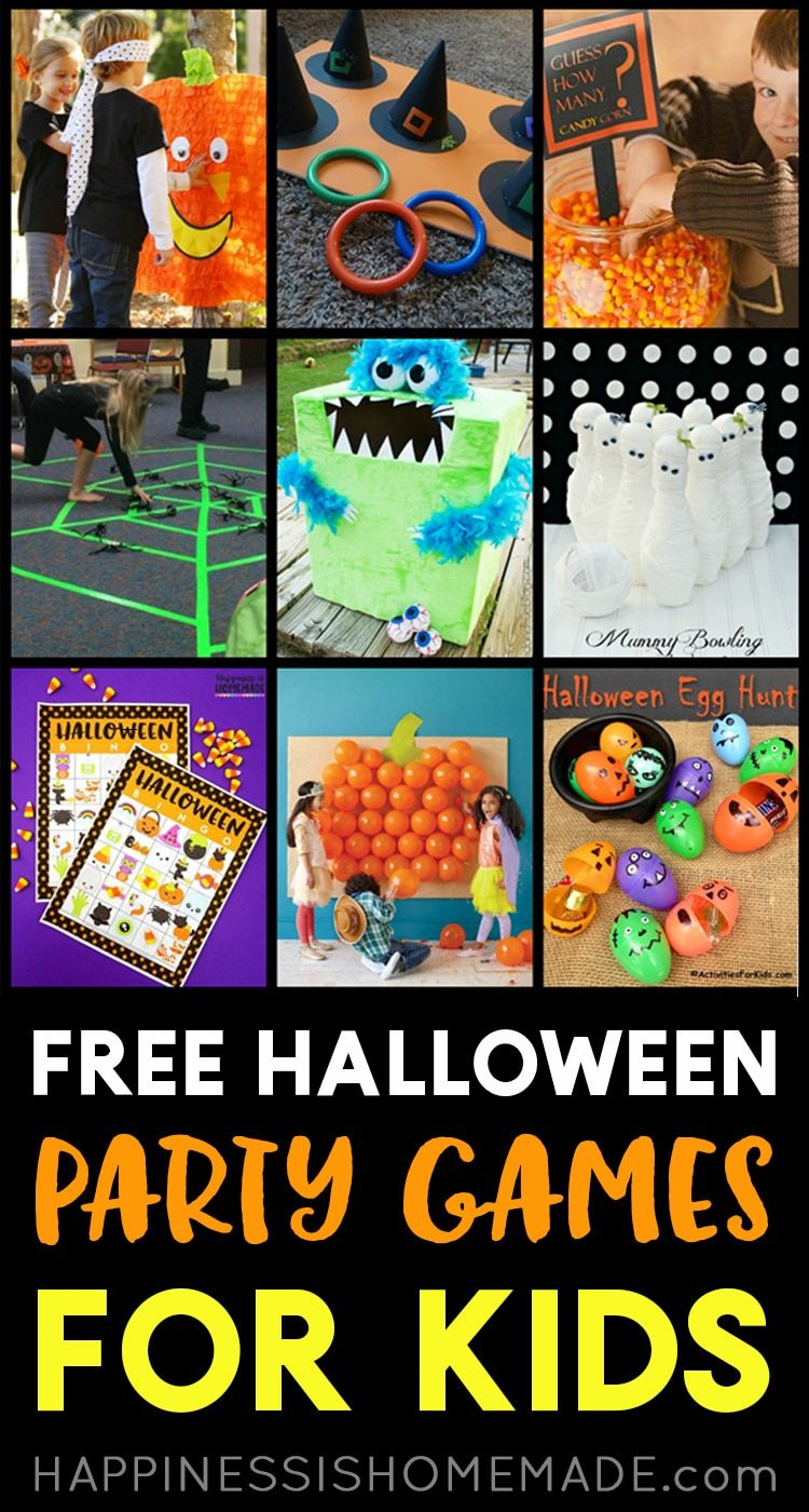 Free Halloween Games Planning a Halloween Party for Kids