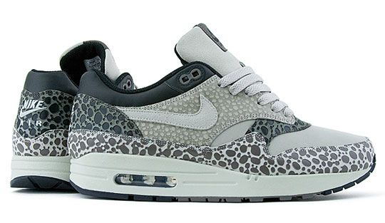finest selection c1e39 1911e Nike Air Max 1 Premium SP Gray White Safari Print