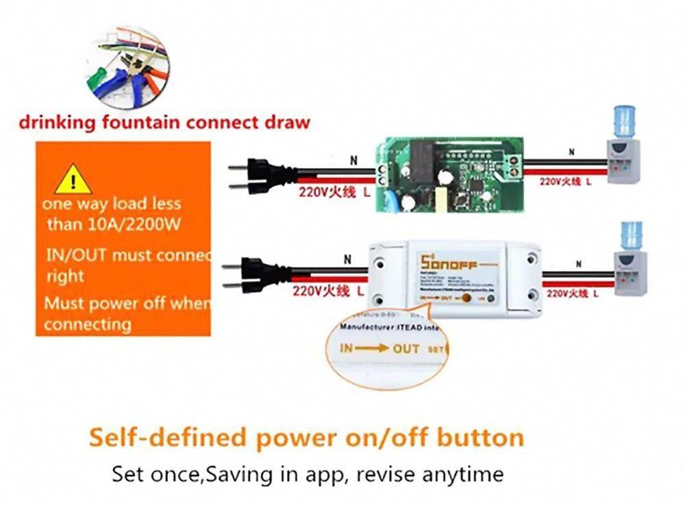 Sonoff Basic 10a Wifi Smart Switch Remote Wireless Timer Light Switch Intelligent Universal Diy Smart Home Smart Switches Home Automation Smart Home Automation