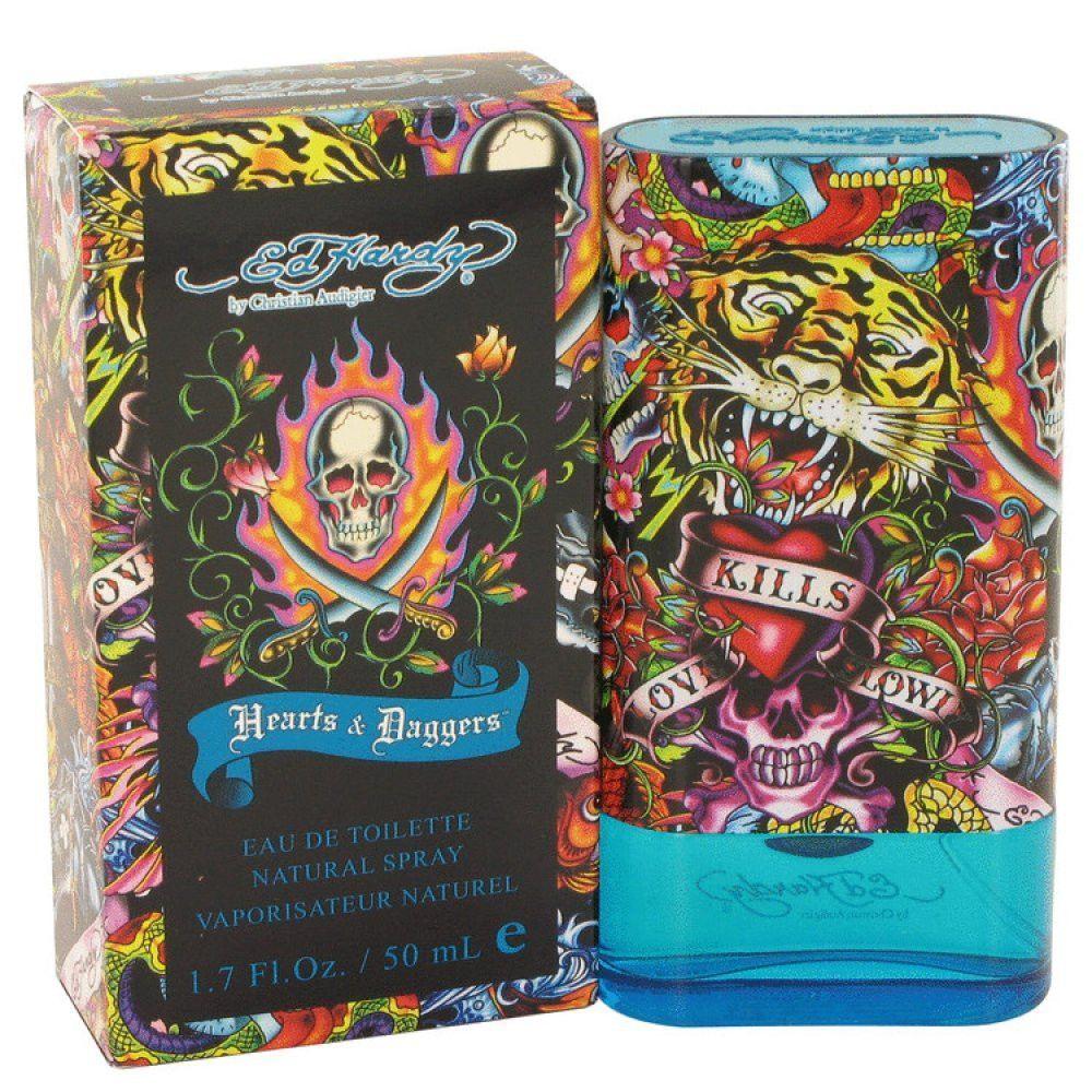 Ed Hardy Hearts & Daggers By Christian Audigier Eau De Toilette Spray 1.7 Oz