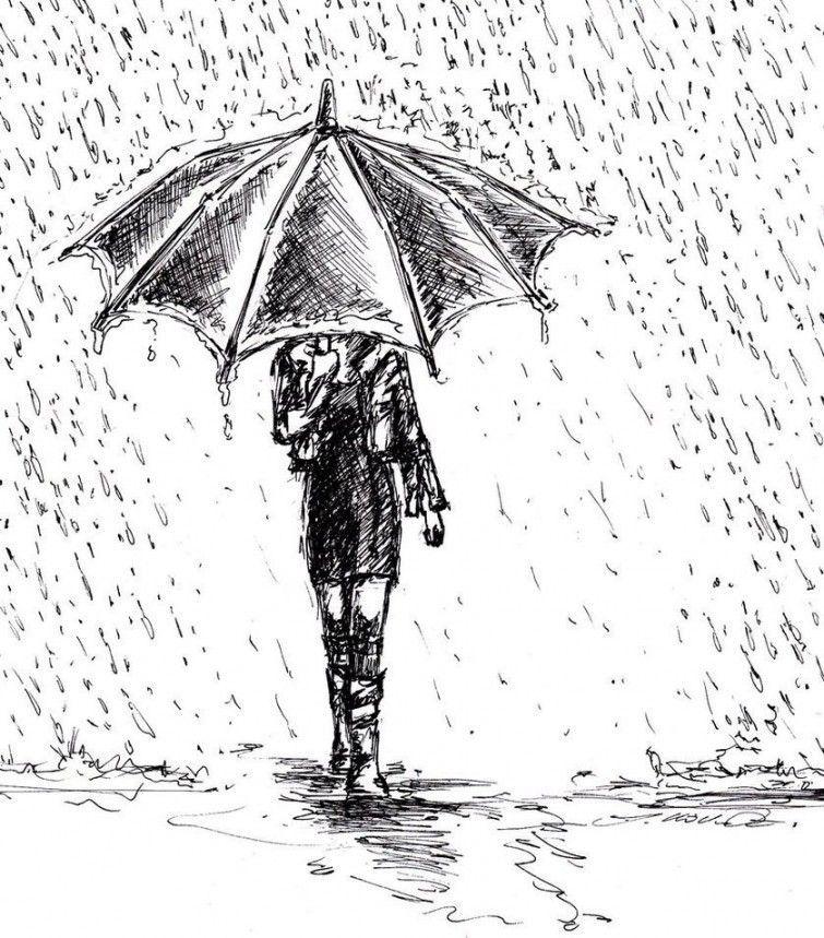 Dibujo Hombre Bajo La Lluvia Buscar Con Google Rain Art Umbrella Drawing Art