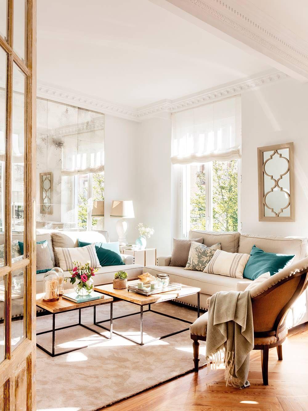 El Sofá Si El Salon Es Pequeño Decoracion De Interiores Salones Decoracion De Interiores Salones Rectangulares