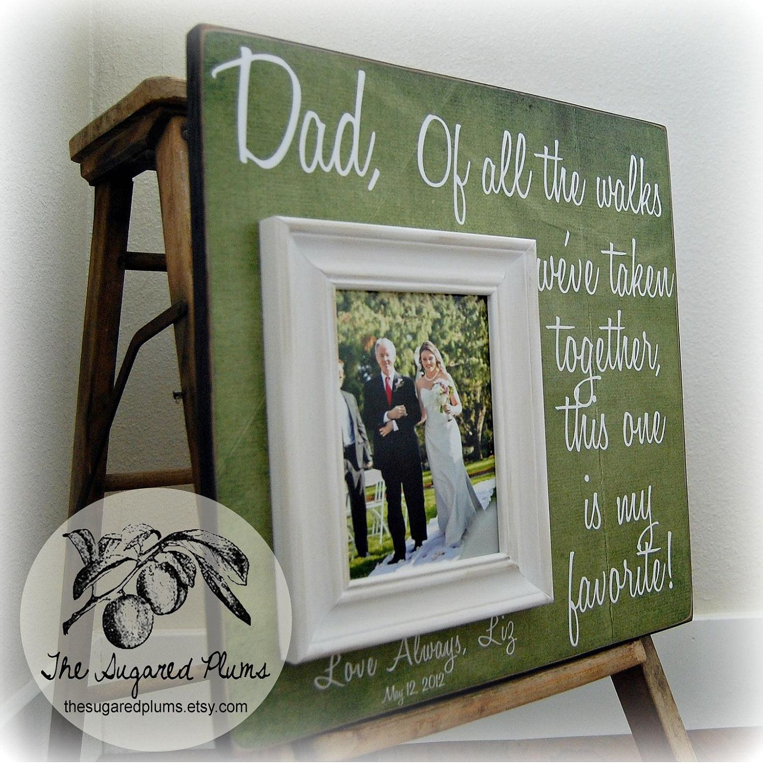 Fathers Day Father of the Bride Custom Wedding Gift Personalized ...