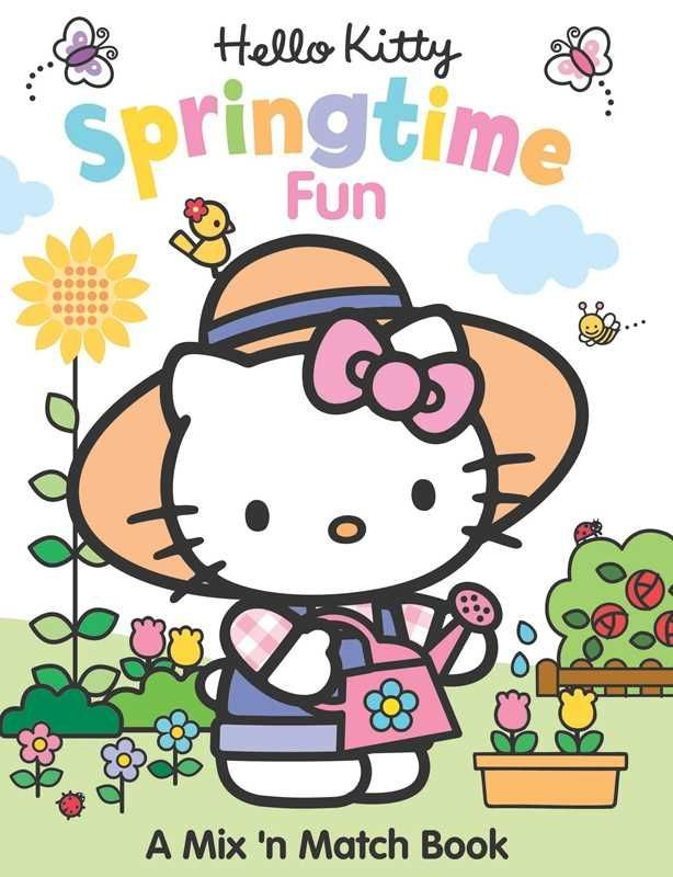 Hello Kitty Springtime Fun Flip The Split Pages Back And Forth To Mix And Match Different Activities And Out Hello Kitty Book Hello Kitty Hello Kitty Coloring
