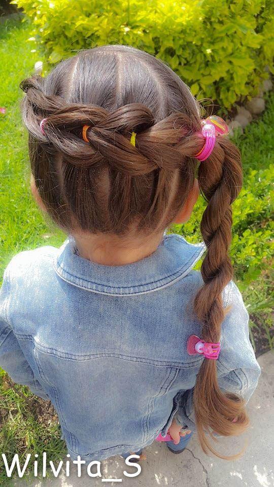 Peinado Facil Para Nina Easy Hairstyle For Girl Peinados De Ninas Faciles Peinados Para Ninas Trenzas De Ninas