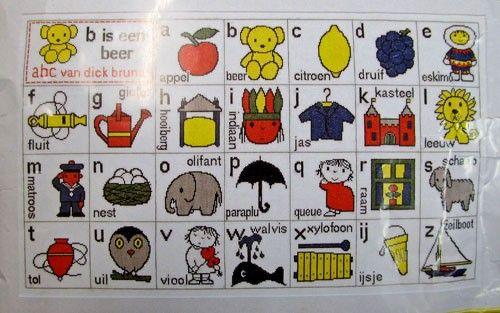 telpakket voor geboorte dick bruna alfabet