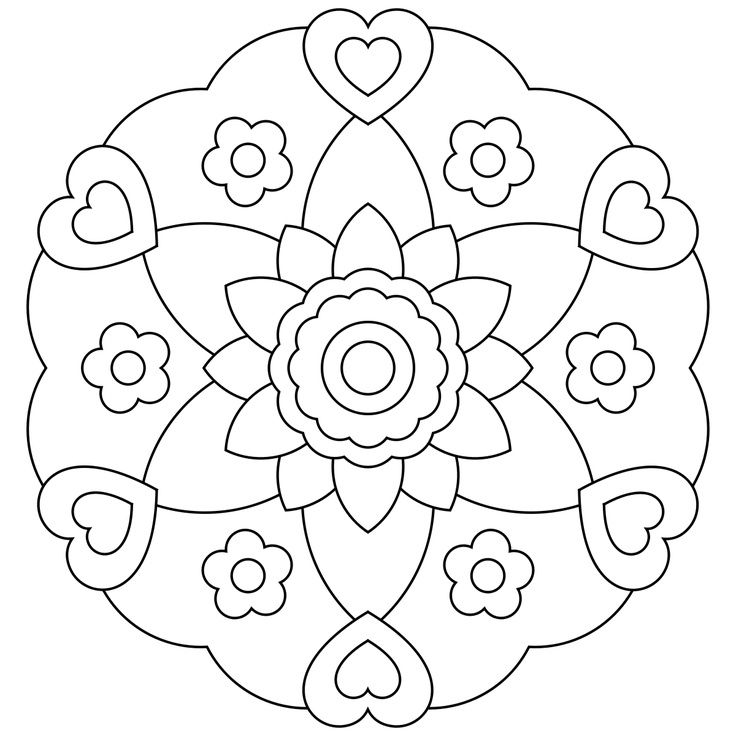 Image for Mandala Coloring Pages Kids   Adult coloring   Pinterest ...