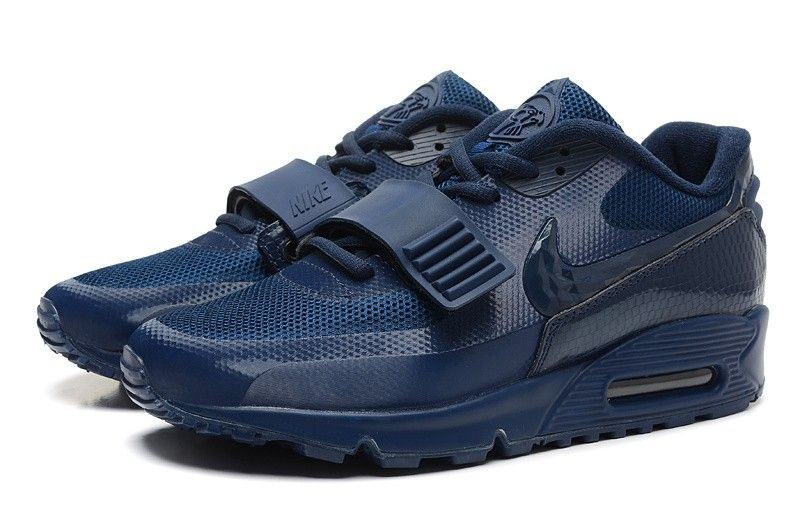 Buy 2016 Nike Air Yeezy II 2 Sp Max 90 The Devil Series Trainers Velcro  Navy Blue West Womens Shoes Sale from Reliable 2016 Nike Air Yeezy II 2 Sp  Max 90 ...