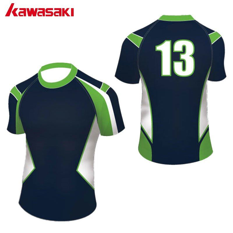 61841d09f Kawasaki Professional Custom Men Women Rugby Top Shirts Printing Sports  Team Cloth Sublimated Breathable Rugby Jersey