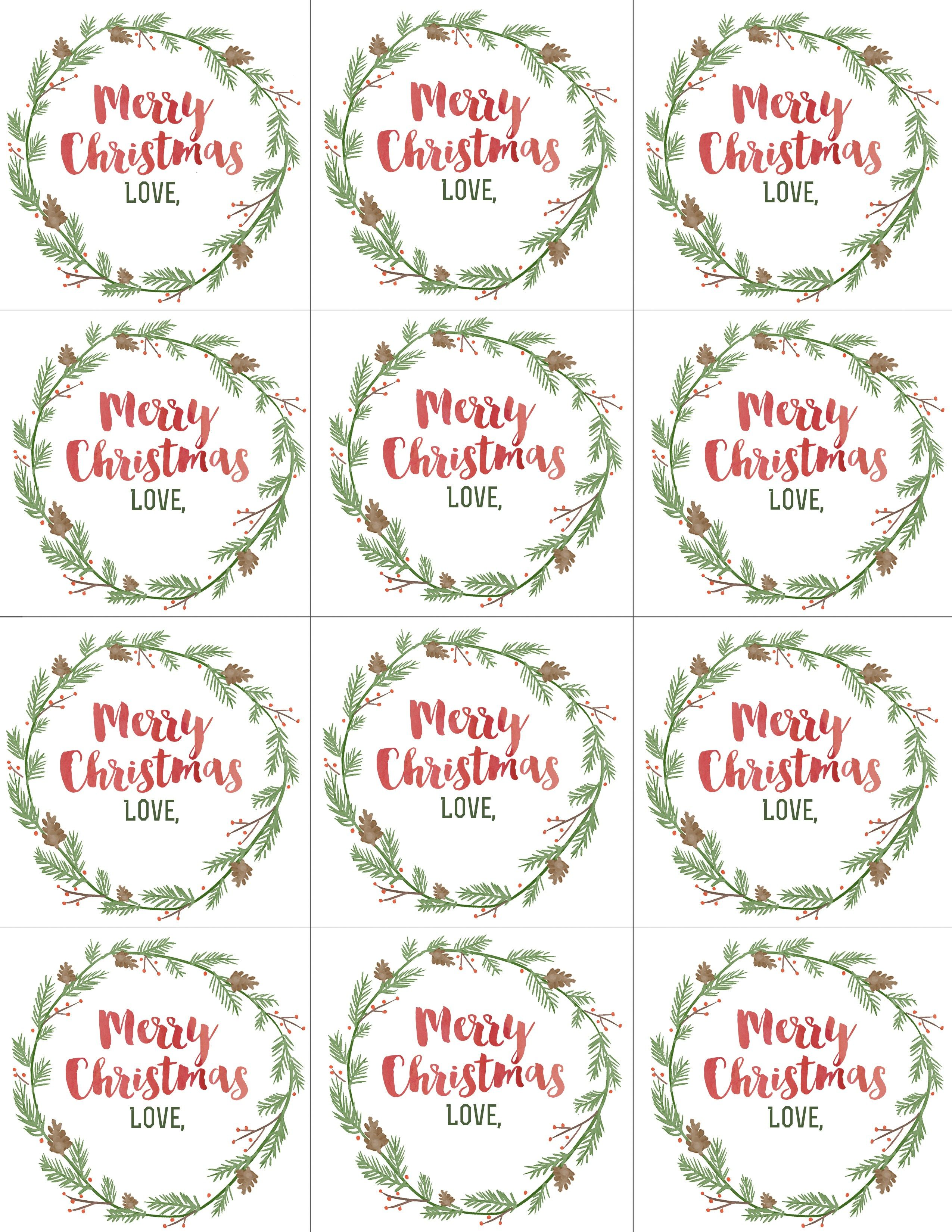 Hand Painted Gift Tags FREE Printable   christmas gift ideas ...