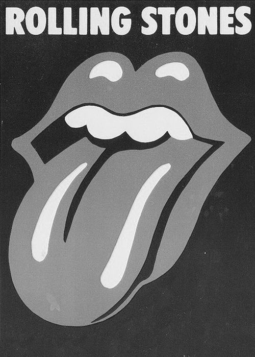 Stones Rolling Stones Logo Black And White Picture Wall Black And White Photo Wall