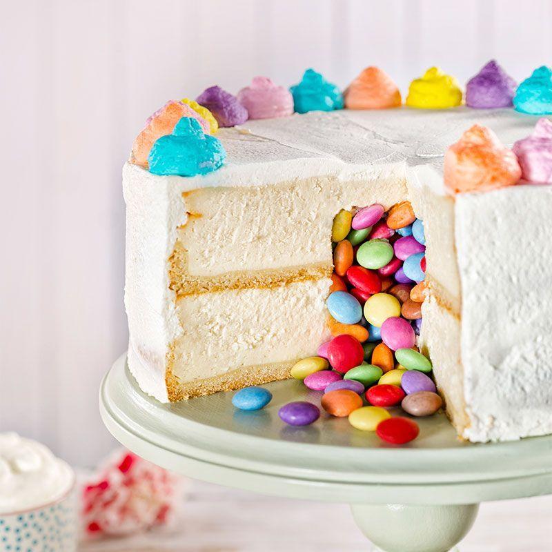 Uberraschungskuchen So Sieht Unser Pinata Cake Aus Geburtstagstorte Fur Kindergeburtstage Mit Smartiefullung Als Uberras Mit Bildern Uberraschung Kuchen Pinata Kuchen