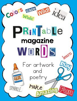 Big package of printable magazine cut out words letters and phrases big package of printable magazine cut out words letters and phrases publicscrutiny Choice Image