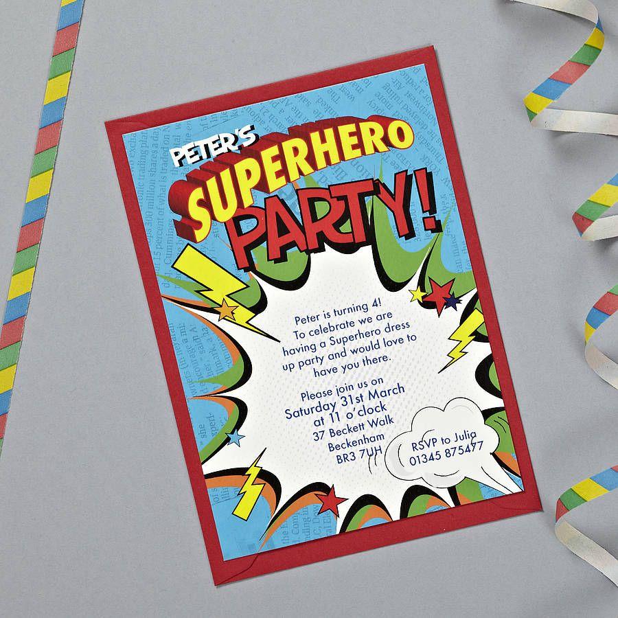 Superhero Party Invitation by DCharmzDesigns on Etsy, $7.00 ...