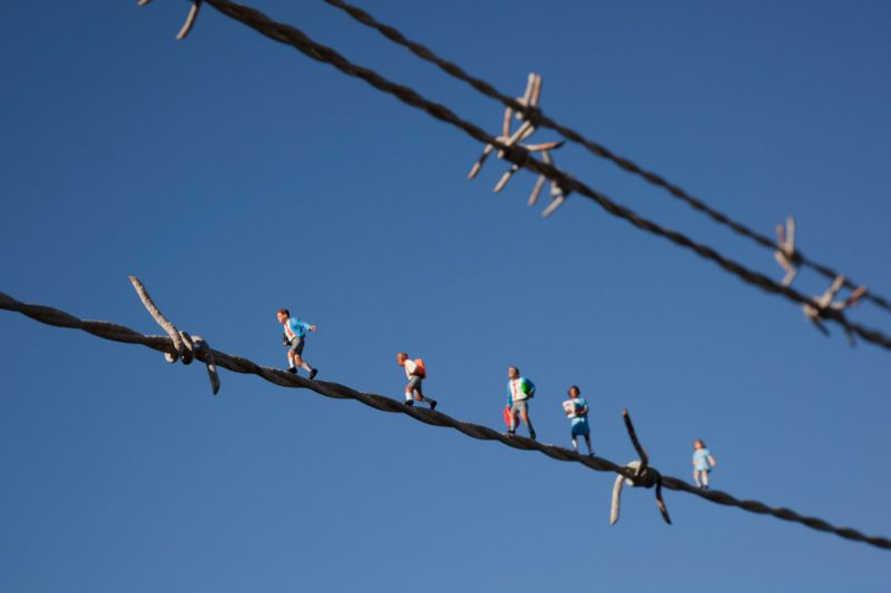 Little people project - cool miniature art - playing in the wire ...