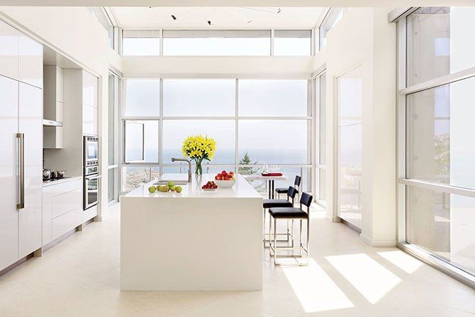 Inspiration for a contemporary kitchen for the minimalist enthusiast — including island inspiration!
