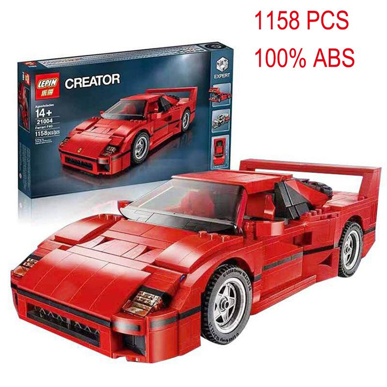 lepin 21004 f40 sports car model building kits compatible with lego city 3d blocks educational toys