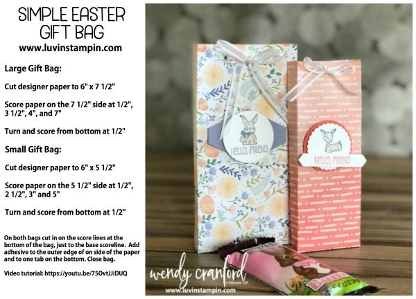 Simple easter gift bag tutorial video httpsyoutu75ovtjjiduq simple easter gift bag tutorial video httpsyoutu negle Images
