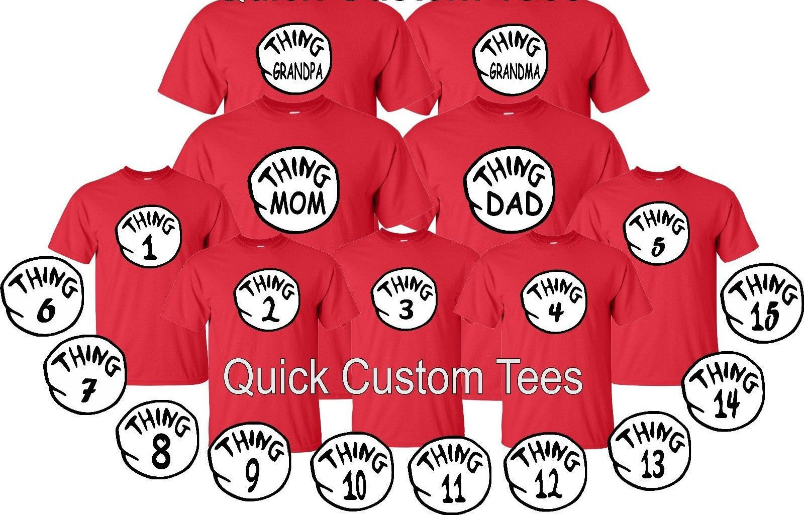 59c793fdda thing 1, thing 2, thing brother , thing sister, grandma, grandpa, 1,2,3,....,  thing one, tow matching tshirts all size kids adult cute by GoCustom on Etsy