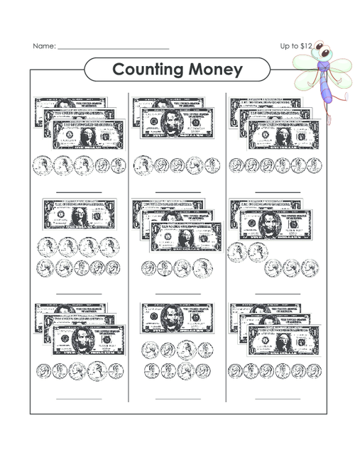 counting money up to 12 fuctional academics math counting money worksheets money. Black Bedroom Furniture Sets. Home Design Ideas