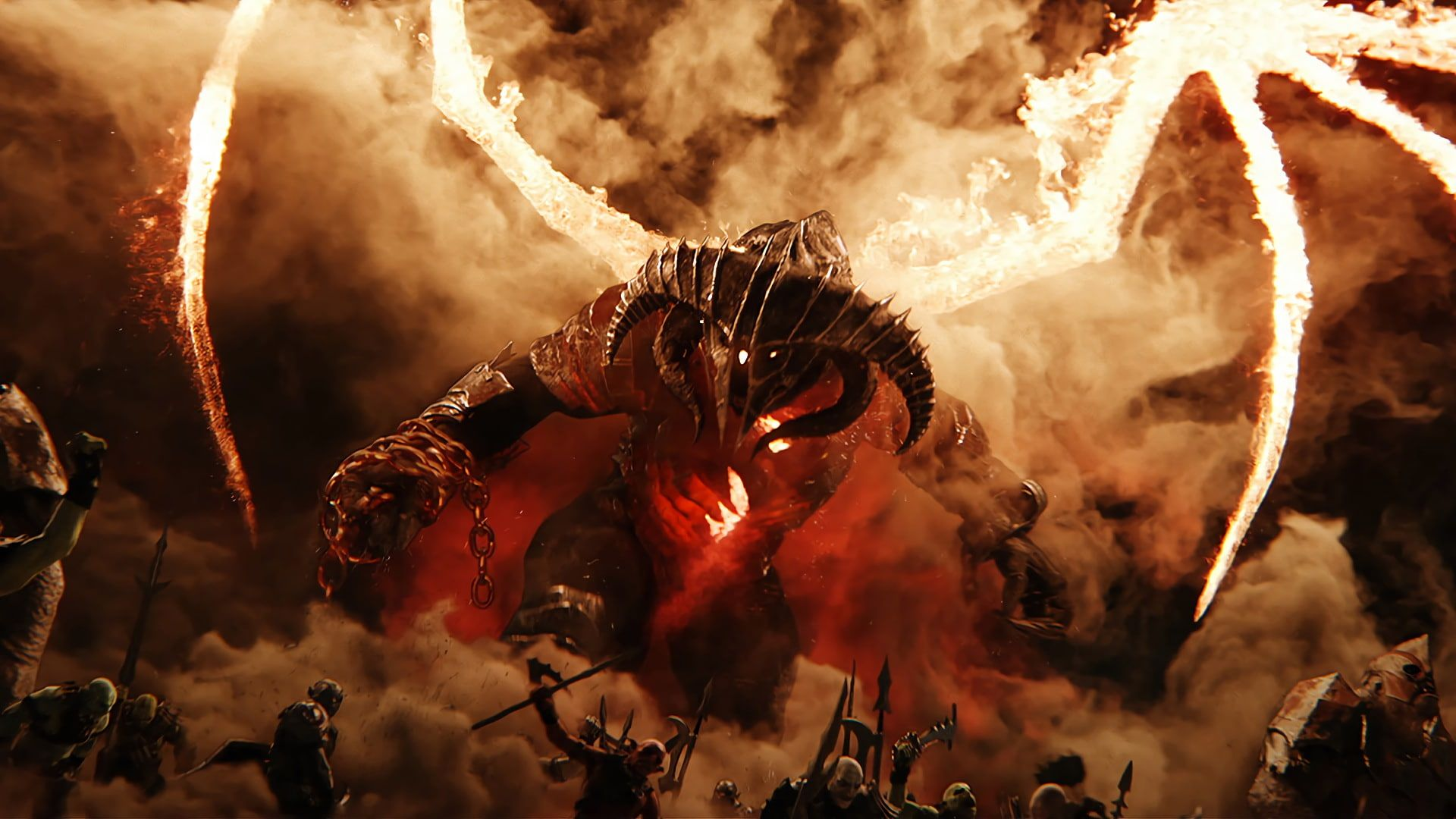 Video Games Balrog Middle Earth Shadow Of War 1080p Wallpaper Hdwallpaper Desktop In 2020 Middle Earth Shadow Shadow Of Mordor Middle Earth