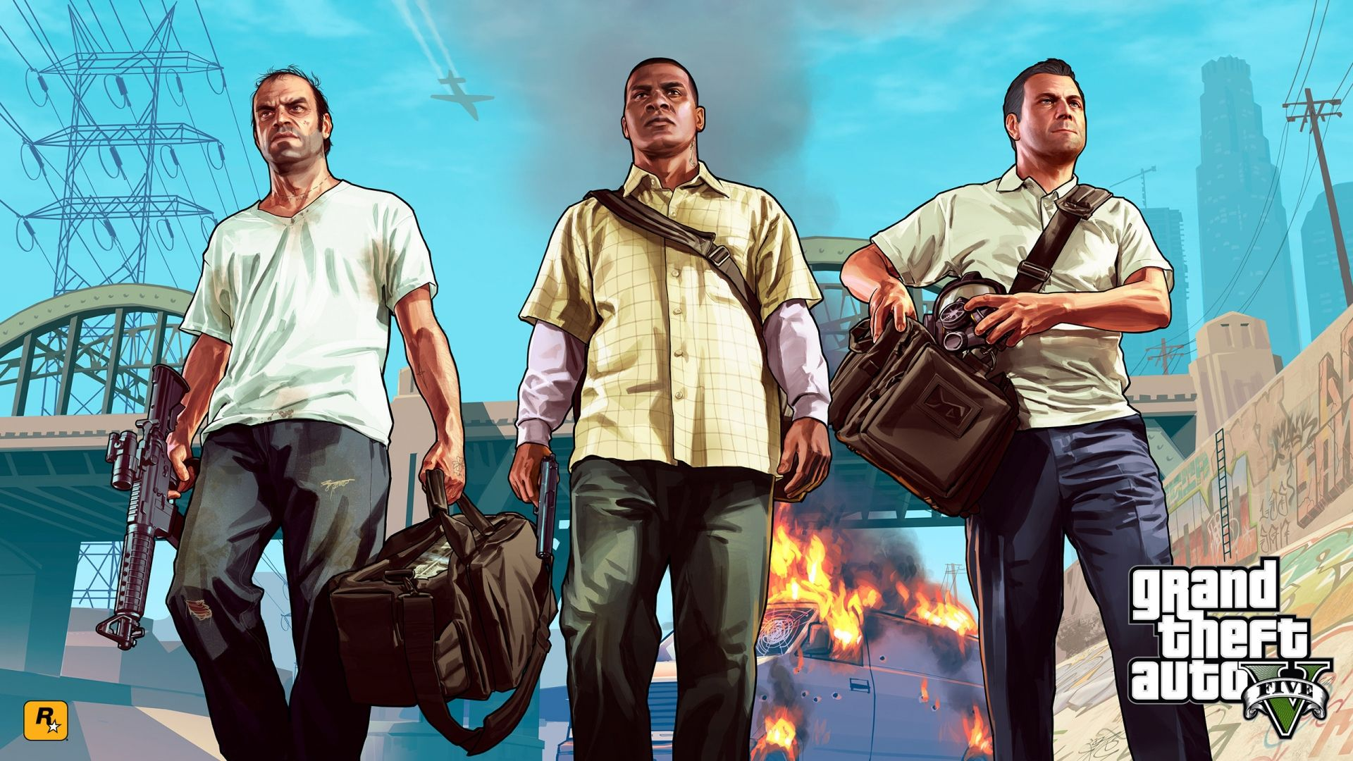 Gta 5 Main Characters For 1920 X 1080 Hdtv 1080p Resolution Com