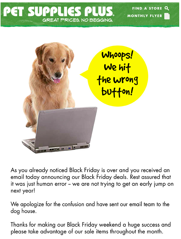 Whoops How To Write The Perfect Oopsie Email Pet Supplies Plus Pet Supplies Pets