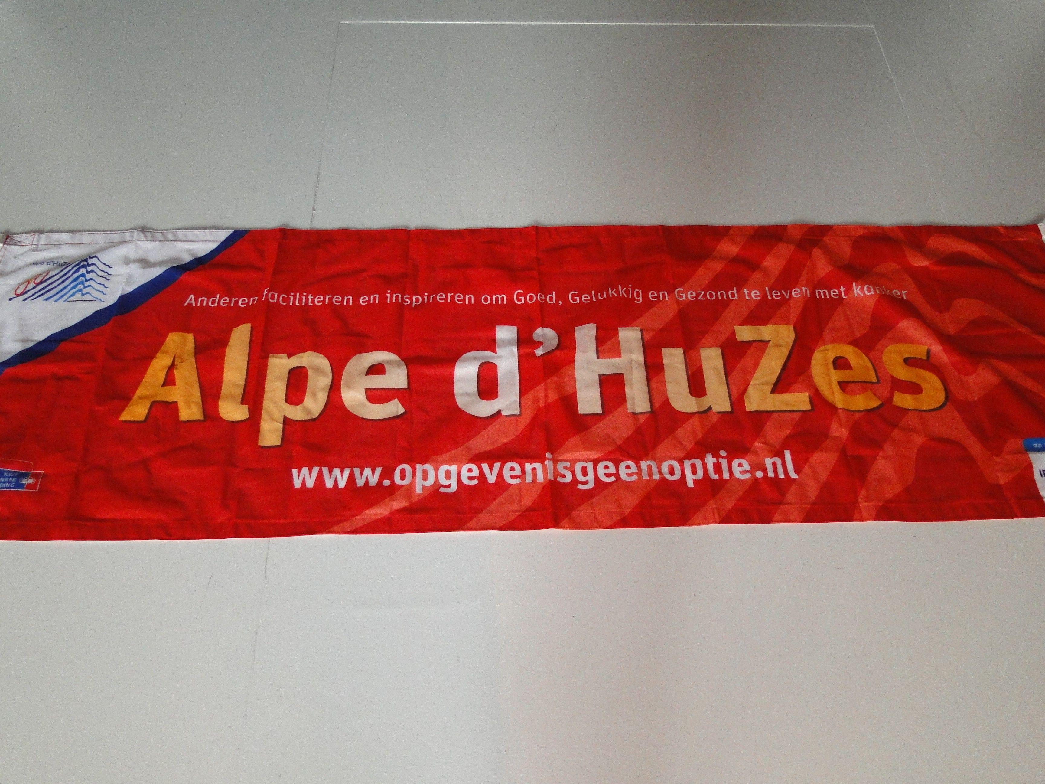 Alpe d'HuZes banner