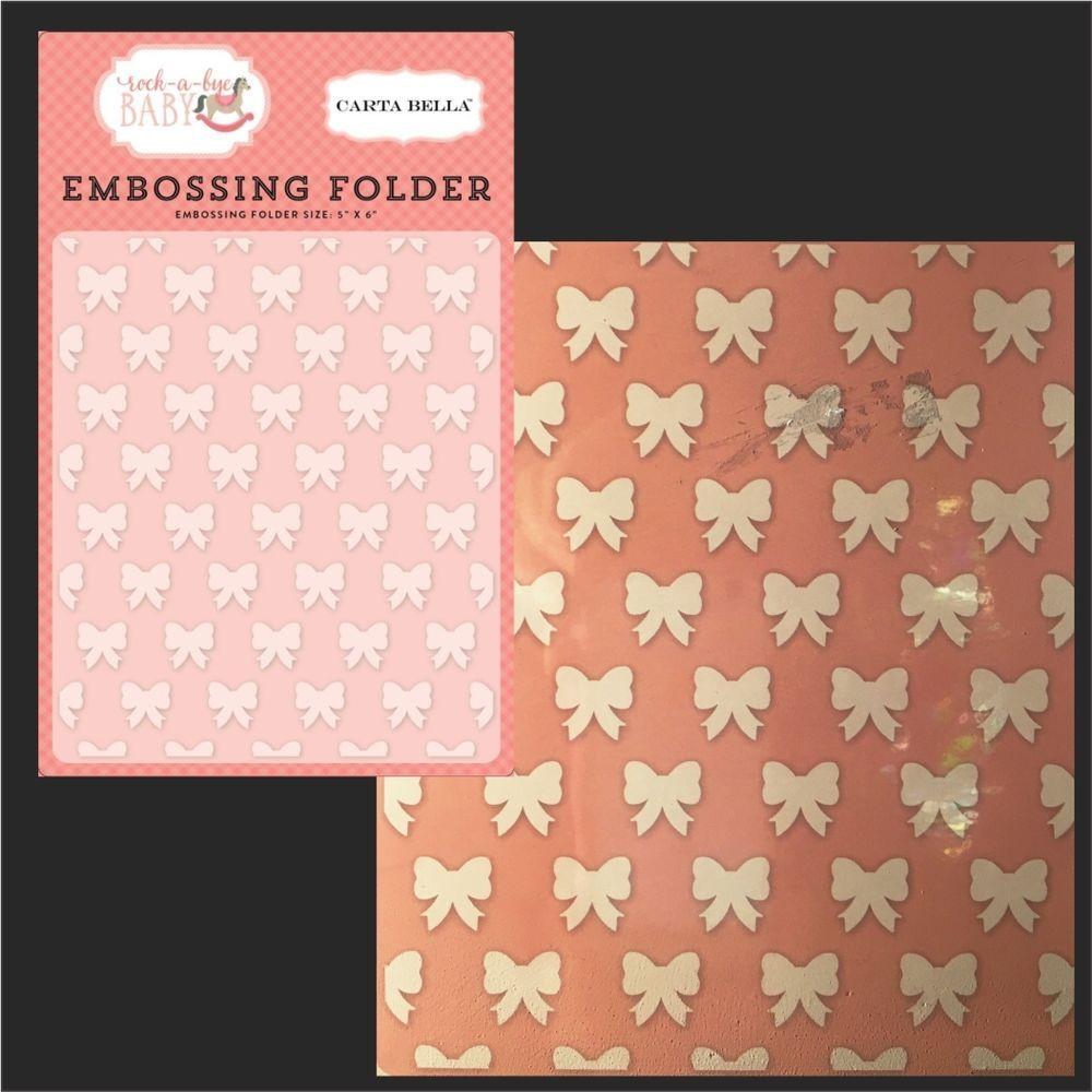 Lifestyle crafts embossing folders - Details About Petite Bows Folder Carta Bella Embossing Folders Cbrbg63032 Baby Girl