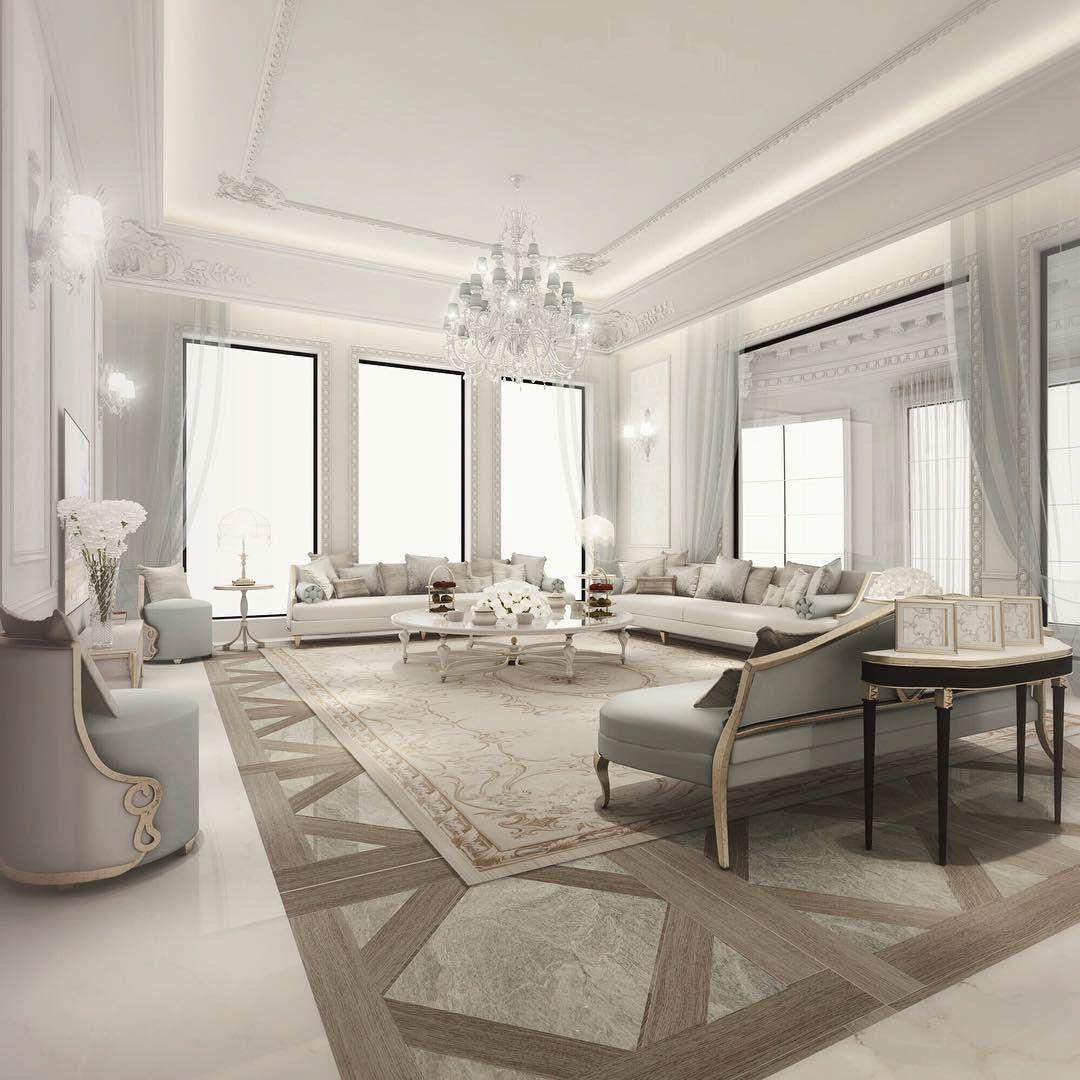 Italian Glam Living Room Design on Behance | Living Room | Pinterest ...