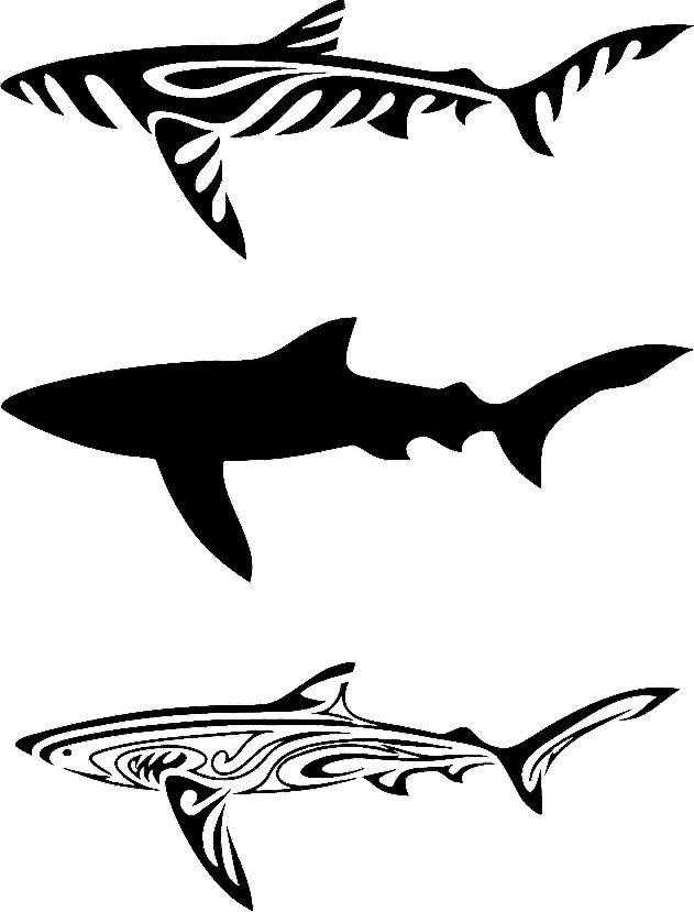 çeşitli Köpekbalığı Desenleri Wood Painting Hand Made Decoupage