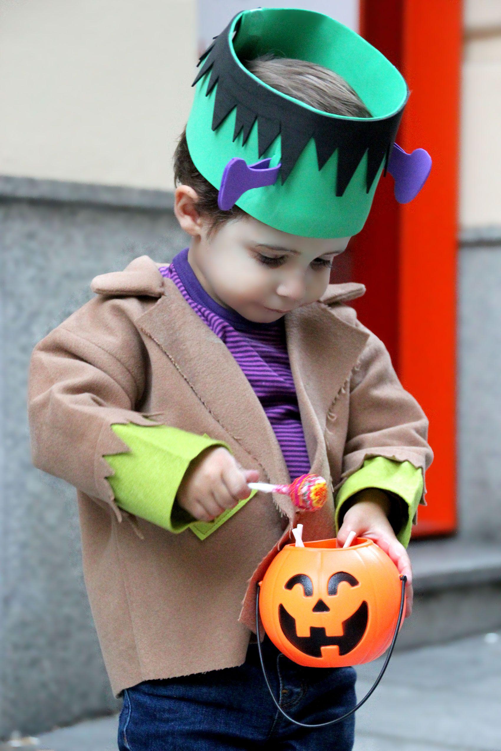 DIY Disfraz casero para niños Frankenstein muy fácil (con