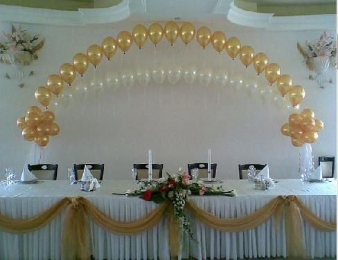 Wedding backdrop decorations balloons balloon for Balloon decoration for wedding receptions