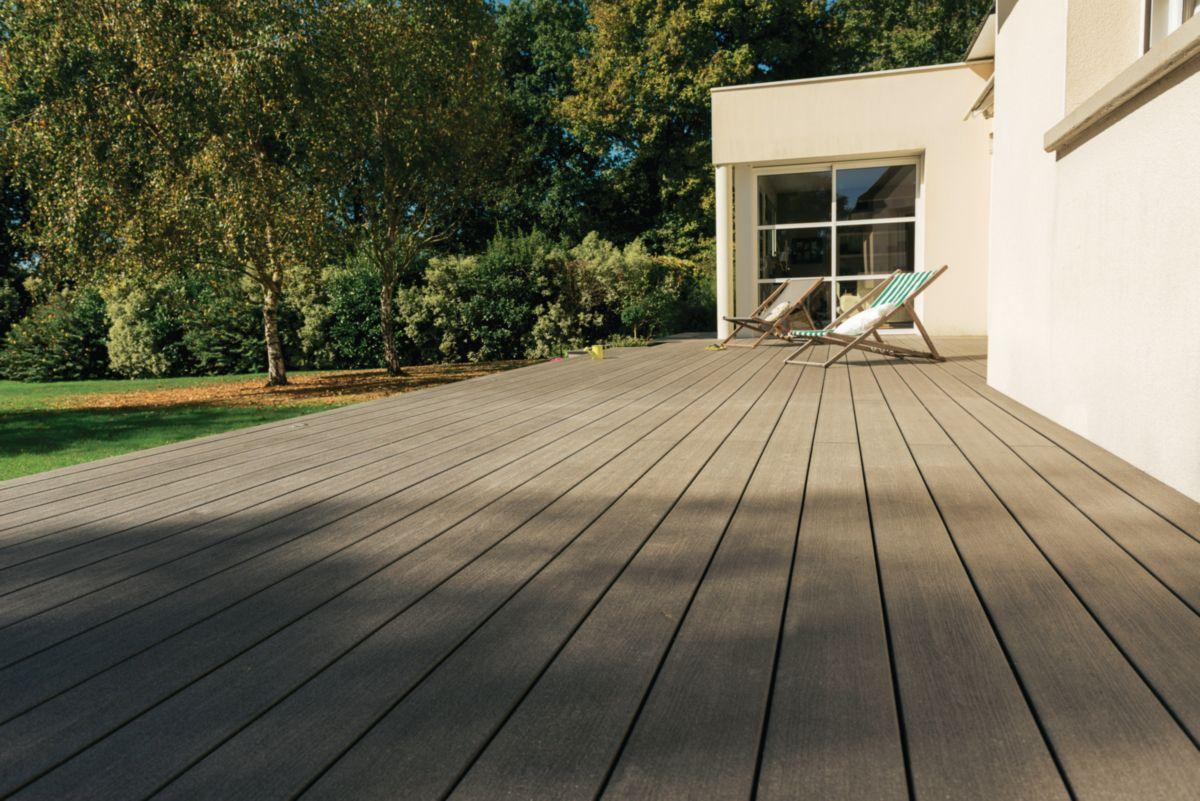 Lame De Terrasse Deck Bois Composite Forexia Elegance Structuree Gris Anthracite Silvadec 4000x18 Lame Terrasse Lame De Terrasse Composite Terrasse Composite
