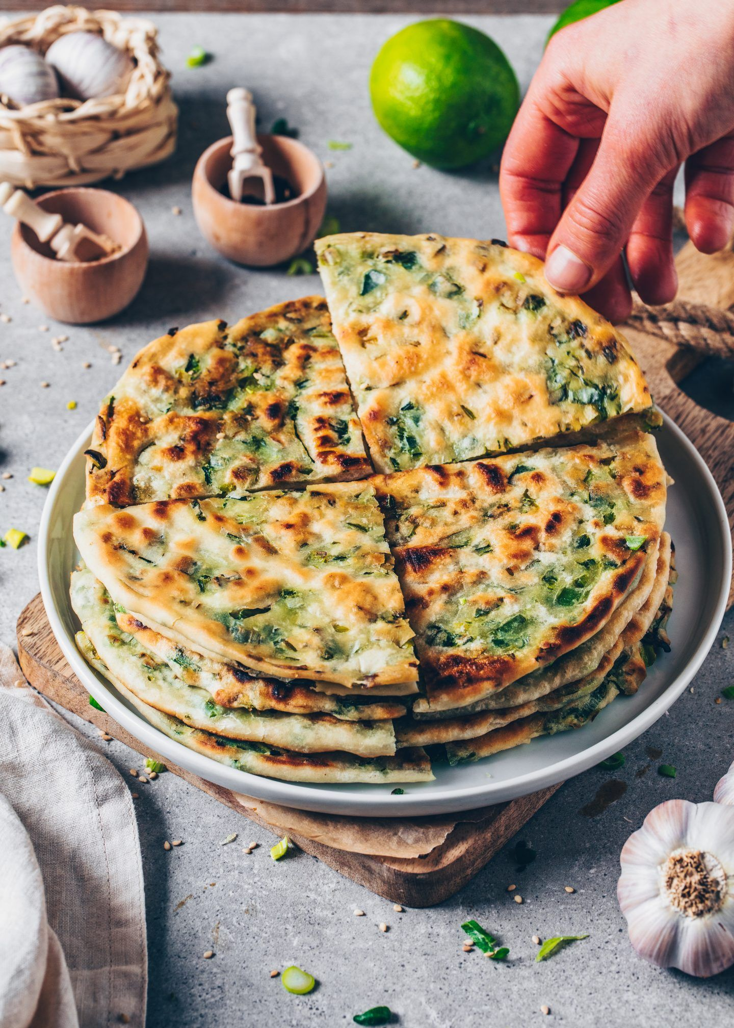 Vegan Scallion Pancakes Recipe Vegan Breakfast Recipes Food