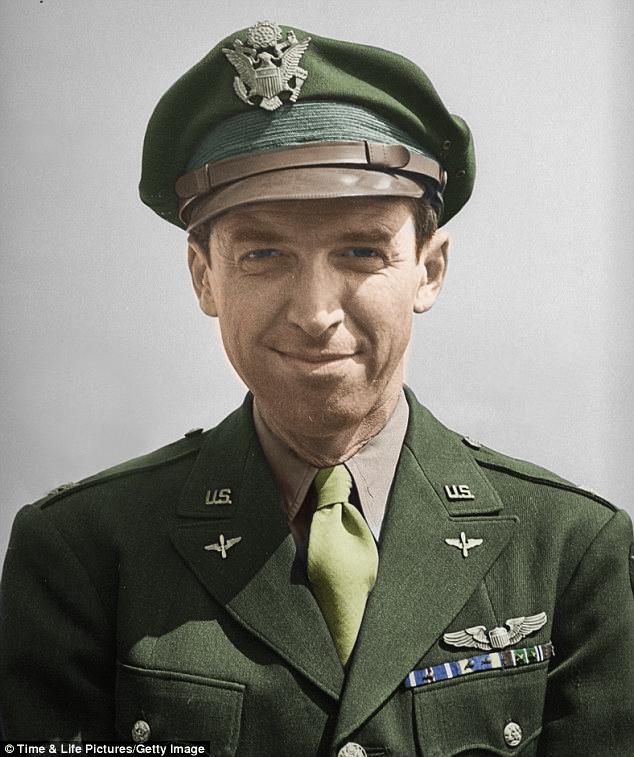 Jimmy Stewart USAAF Movie stars, Wwii, World war