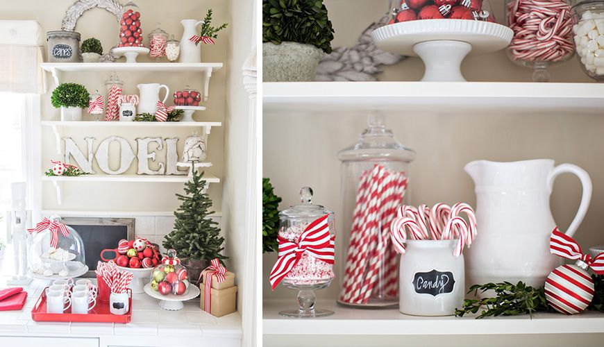 Sweet Christmas Kitchen Restylesource Christmas Kitchen Christmas Dreaming White Christmas Decor