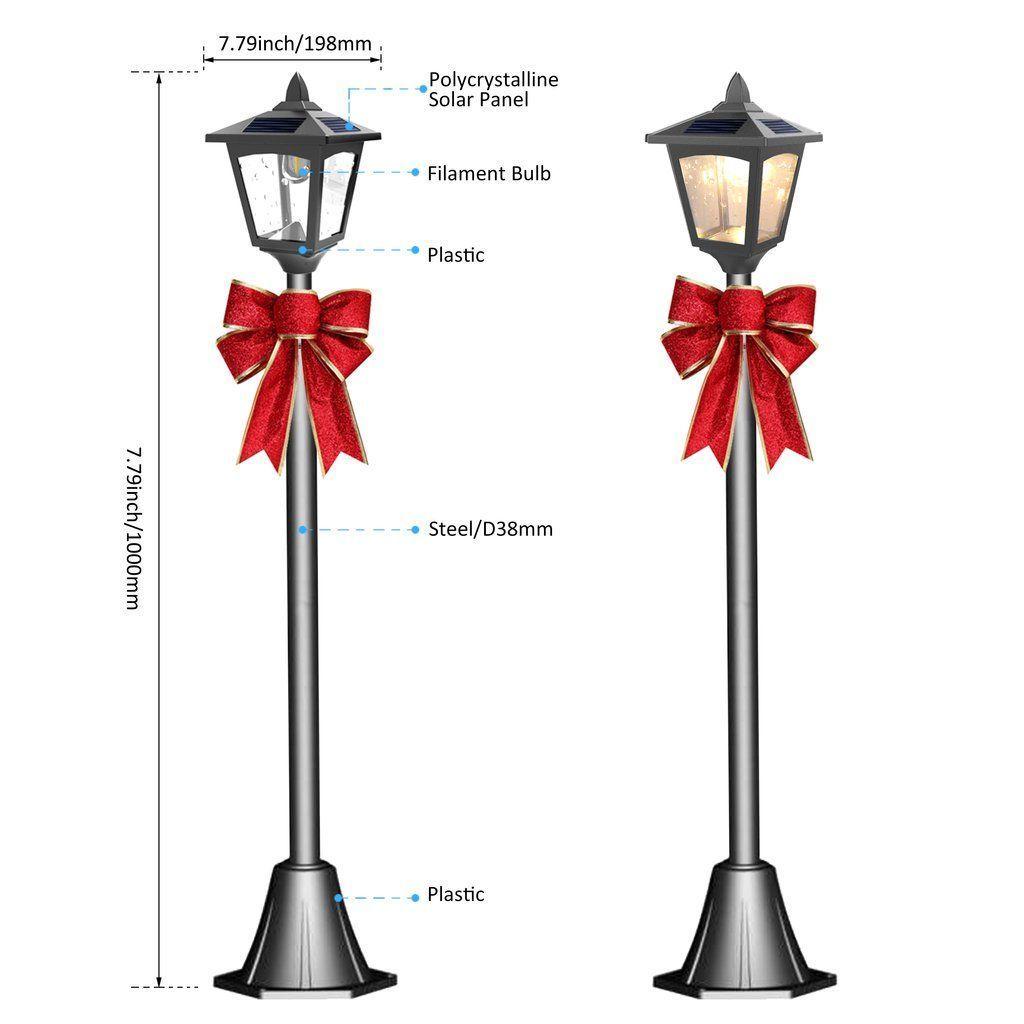 Christmas 42 Mini Street Vintage Outdoor Garden Solar Lamp Post Light Lawn 2 P Christmas Garden Lamp Lawn Light In 2020 Lamp Post Lights Lamp Post Post Lights