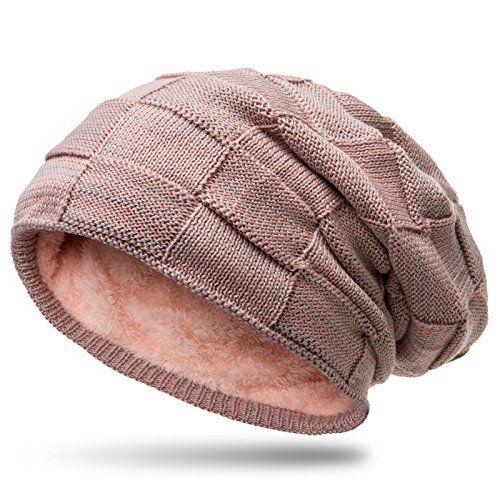 f2709168c8acab Caspar MU135 gefütterte Feinstrick Beanie Mütze mit Flecht Muster  Farbe:Rosa-Grau;Größe