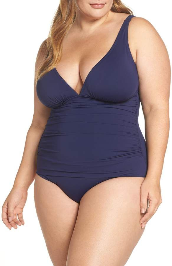 Tommy Bahama Pearl One-Piece Swimsuit Plus Size  One