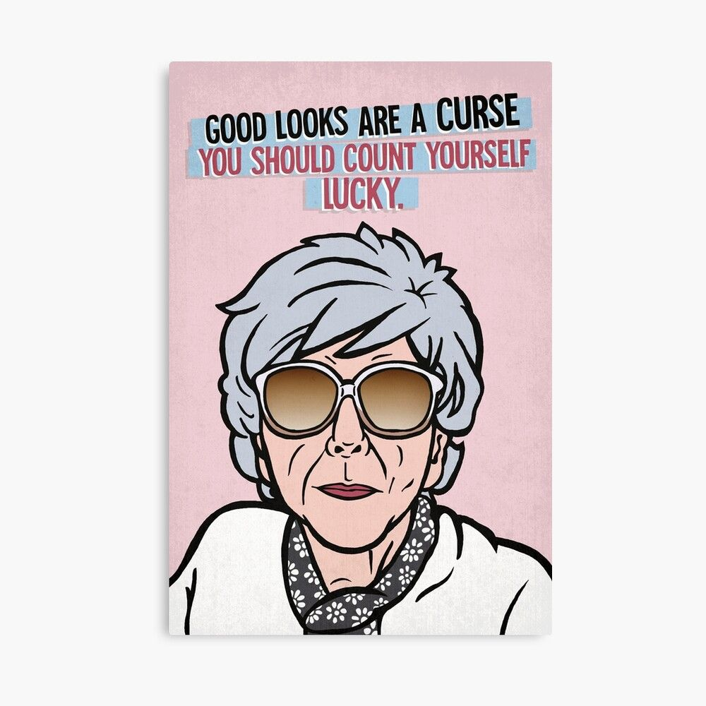 Good Looks Are A Curse Funny Blanche Hunt Quote Coronation Street Card Greeting Card By Toruandmidori In 2021 Mothersday Cards Mothers Day Cards Printed Cards