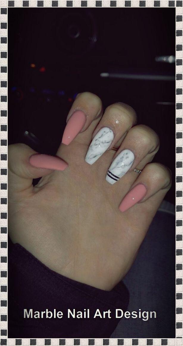 50 súper ataúd de mármol diseño de uñas – ladyandfashion