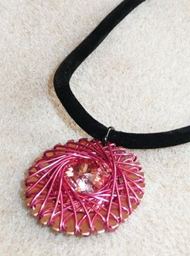 Free Wire-Pendant Tutorial from Beaducation - Inside Jewelry Stringing Magazine - Blogs - Beading Daily