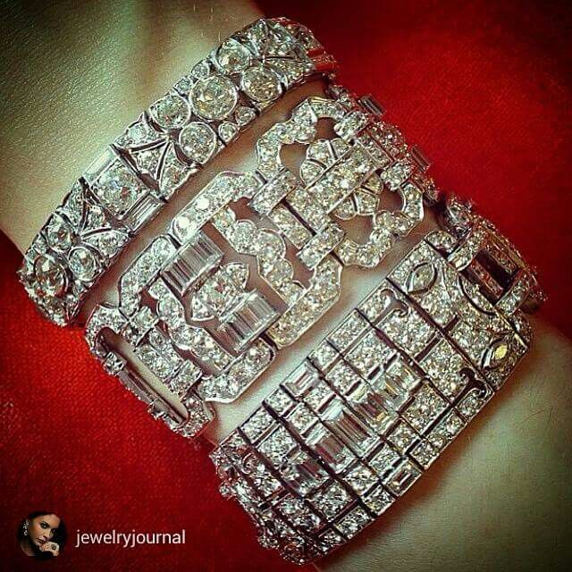 @jewelryjournal Jaw dropping diamond bracelets from christies #christiesjewels