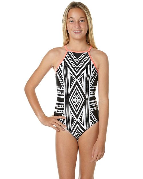 31e49122af RIP CURL KIDS GIRLS NOMADIC ONE PIECE - BLACK WHITE | Swimsuits in ...