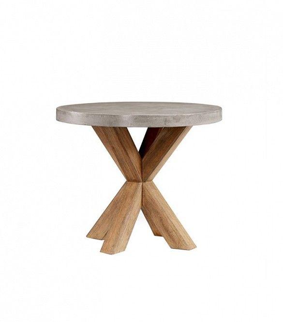 Pottery Barn Abbott Concrete Top Round Fixed Bistro Table