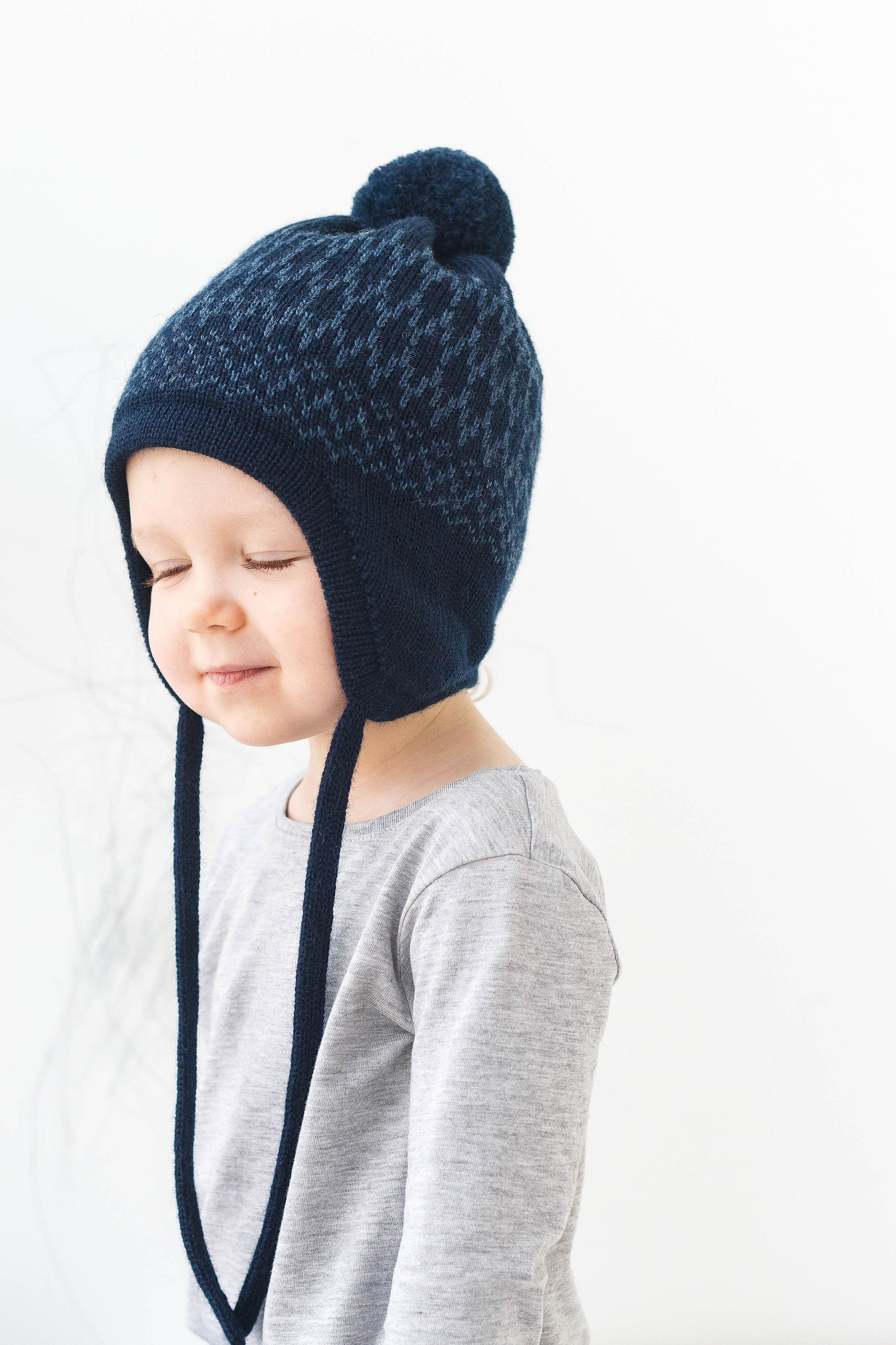 Infant Baby Toddler Girl Pom Braid Ears Beanie Hat winter warm knit cover cap